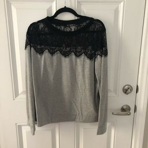 NWOT women's lace sweater